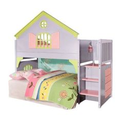 Discovery World Furniture Dollhouse  Loft Twin Bunk Bed