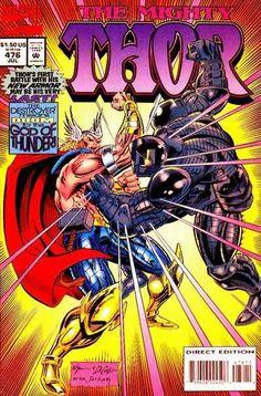 Mighty Thor # 476 by M. C. Wyman & Mike DeCarlo