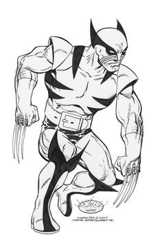 Wolverine commission by John Byrne. 2007.