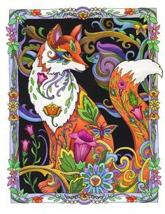 Fanciful Foxes | Coloring Books, Foxes and Coloring