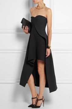 dc43ccf9a3 Stella McCartney - Malia stretch-wool and crepe midi dress
