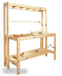How to Build a Workbench: Super Simple $50 Bench - Step by Step | The Family Handyman