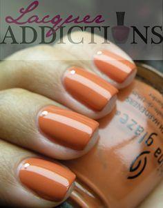 "China Glaze's ""Life Preserver"". Lacquer Addictions nail blog."
