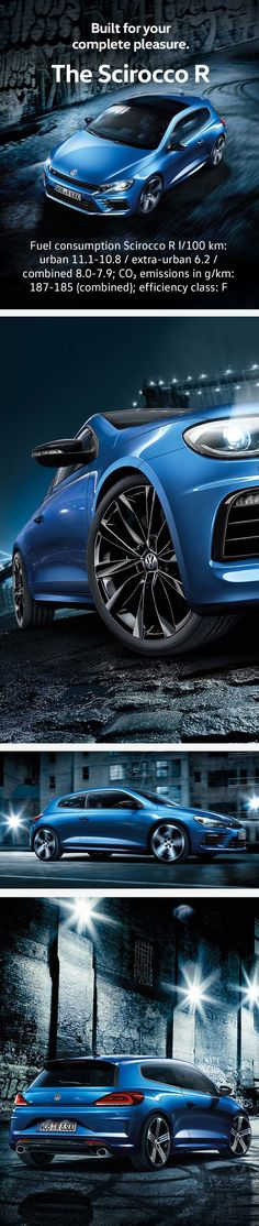 The most powerful and agile Scirocco of all time is here. Thanks to 206 kW (280 hp), the Scirocco R is not only a true powerhouse, he's also a real speedster. With its optional DSG, this Volkswagen coupé accelerates from 0-100 in 5.5 seconds. And of course, this Scirocco also offers visible, R-typical highlights such as the motorsport bucket seats, adorned with ornamental seams and the R logo.