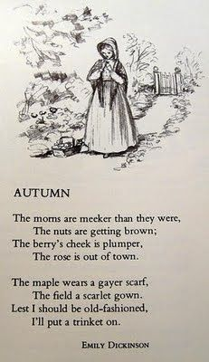 Autumn Poem by Emily Dickinson