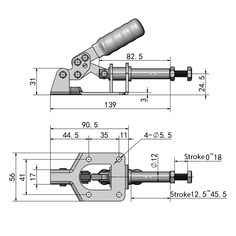 136Kg/300Lbs Quick Push Pull Type Toggle Clamp Straight Line Action Clamp 32mm Plunger Stroke Isometric Drawing Exercises, Autocad Isometric Drawing, Mechanical Engineering Design, Mechanical Design, Solidworks Tutorial, Sheet Metal Work, 3d Cad Models, Leather Craft Tools, Cnc Projects