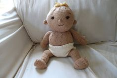 Knitted baby doll