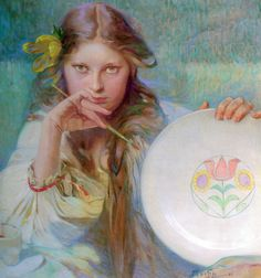 labellefilleart:  The Artist by Alfonse Maria Mucha