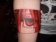 this is my tattoo of Elfen Lied i just got yesterday from Marty at City Bodyart and Piercing oppisite the Hilton in Brisbane city. Still a bit red raw j. Temporary Tattoo Sleeves, Custom Temporary Tattoos, Sleeve Tattoos, Simple Eye Makeup, Eye Makeup Tips, Eye Tattoo On Arm, Eye Logo, Arm Art, Large Tattoos