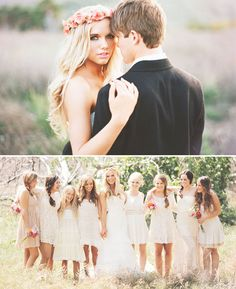 //Bridesmaids inspiration.