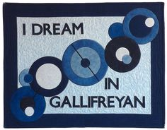 "The matching ""I Dream in Gallifreyan"" pillow sham by whimziequiltz."
