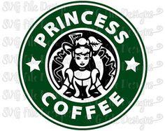 Cinderella Disney Princess Starbucks Coffee Logo Cutting File Clipart in Svg, Eps, Dxf, Png, and Jpeg for Cricut & Silhouette Disney Starbucks, Starbucks Logo, Starbucks Coffee, Cinderella Disney, Disney Princess, Disney Frames, Custom Starbucks Cup, Record Art, Coffee Logo