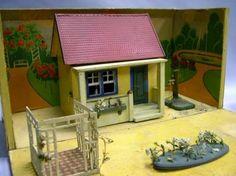Dollhouse | Gottschalck Wood & Board Cottage in Garden-Decorated