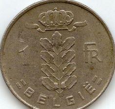 Belgium 1 Franc Coins Belgique Belgian European
