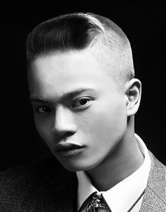 short brown straight coloured multi-tonal shaved-sides Mens haircut hairstyles for men