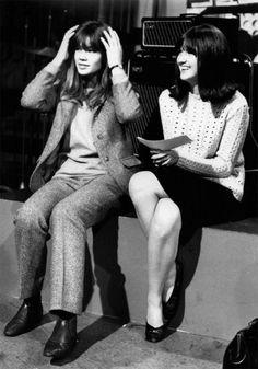 Françoise Hardy and Cathy McGowan