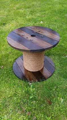 Bobina di legno tavolo