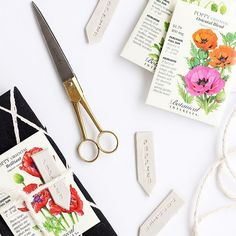 One of our favorite placesetting ideas. Make some plant markers for the garden! Search the blog archives for the how-to