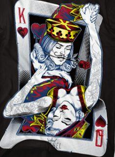 Playing Card Tattoos, Playing Cards Art, Og Abel Art, Karten Tattoos, Queen Of Hearts Tattoo, King Queen Tattoo, Wallpaper Flower, Art Afro, Queen Images