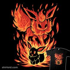The Fire Evolution Within from ShirtPunch Eevee Wallpaper, Cute Pokemon Wallpaper, Pokemon Backgrounds, Cool Pokemon Wallpapers, Pokemon Eevee Evolutions, Charizard, Pokemon Mignon, Deadpool Pikachu, Pawer Rangers