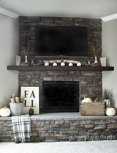65 simple fireplace décor ideas on budget (7)