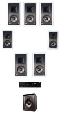 Klipsch 7.1 THX Ultra 2 Certified Home Cinema In Wall Speaker system