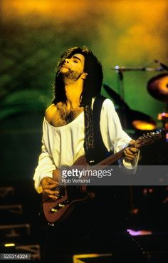 Prince performs on stage at Feyenoord Stadion De Kuip Rotterdam Netherlands 3rd June 1990