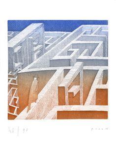 Folon Jean Michel The labyrinth