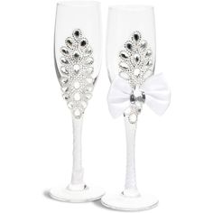 Glitter Wine Glasses, Diy Wine Glasses, Decorated Wine Glasses, Bridal Glasses, Wedding Toasting Glasses, Champaign Flutes, Bride And Groom Glasses, Bridal Bouquet Blue, Engagement Party Gifts