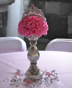 17 Best ideas about Princess Party Centerpieces on . Princess Party Centerpieces, Quinceanera Centerpieces, Quinceanera Party, Baby Shower Centerpieces, Centerpieces For Birthday Party, Quince Centerpieces, Princess Party Favors, Centerpiece Ideas, Wedding Centerpieces