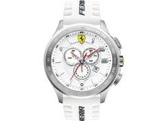 Ferrari Chronograph White Dial White Silicone Watch 830140