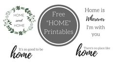 "I love my home. I love being home. I am a homebody. The saying really is true, ""There's no place like home."" It is my place of safety and security. My place of peace and relaxation. Today I have put together some FREE ""Home"" printables for you to put around your house. These are super …"