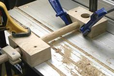 For extra support for this job I also used the first jig clamped to the table as a stabilising block and it allows you to use the adjustable stop to control the cut as well