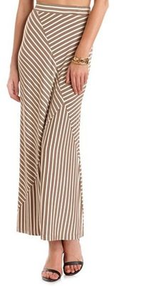 #Charlotte Russe          #Skirt                    #Asymmetrical #Stripe #Maxi #Skirt: #Charlotte #Russe                         Asymmetrical Stripe Maxi Skirt: Charlotte Russe                               http://www.seapai.com/product.aspx?PID=986900