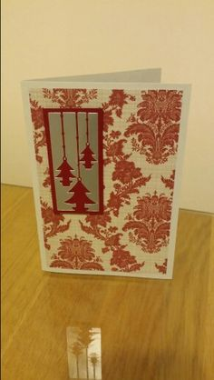 Xmas patterned simple card