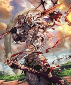 Fantasy Armor, Fantasy Weapons, Dark Fantasy Art, Fantasy Art Warrior, Fantasy Character Design, Character Design Inspiration, Character Art, Dnd Characters, Fantasy Characters
