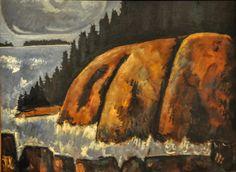 'Hurricane Island, Vinalhaven Maine' by Marsden Hartley, 1942