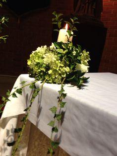 #Blume - decoracion iglesia casamiento Cecilia y Guillermo. Detalle vela altar