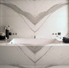 Marble bathroom interior