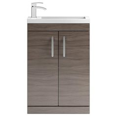 Shop the Vienna Floor Standing Vanity Unit online. Comes in a Driftwood… Units Online, Bath Cabinets, Downstairs Toilet, Modular Furniture, Vanity Units, Vienna, Driftwood, Basin, Small Bathroom