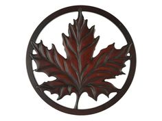 Trivet from Recycled Glass - Maple Leaf