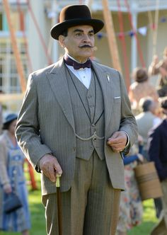 Hercule Poirot - David Suchet in Dead Man's Folly (by Agatha Christie).