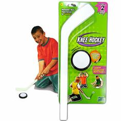 Play Canada's favourite game, indoors, all year long with this Knee Hockey set! http://www.mastermindtoys.com/Mini-Carpet-Hockey.aspx