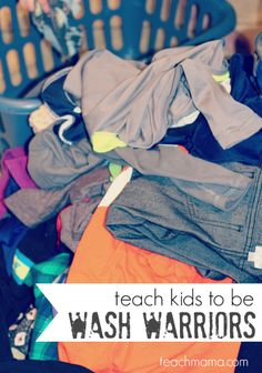 teach your kids how to do laundry: become wash warriors | #sponsored #freeprintable #weteach @Judy Sonke USA