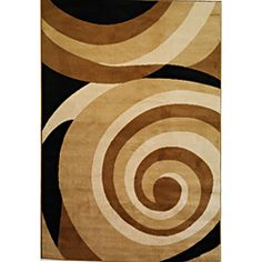 $148.49 Scrolls Waves Gold Area Rug (7'10 x 9'10)