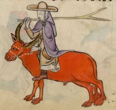 Detail from The Luttrell Psalter, British Library Add MS 42130 (medieval manuscript,1325-1340), f62r