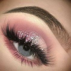 Prom Eye Makeup, Makeup Eye Looks, Eye Makeup Art, Beautiful Eye Makeup, Pink Makeup, Cute Makeup, Glam Makeup, Eyeshadow Makeup, Pink Eyeshadow
