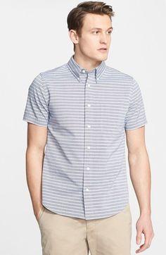 Men's Jack Spade 'Farnham' Trim Fit Short Sleeve Stripe Sport Shirt