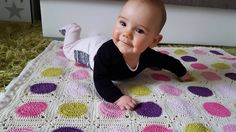 Crochet baby blankett