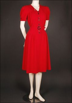 Red Crepe dress at Vecona